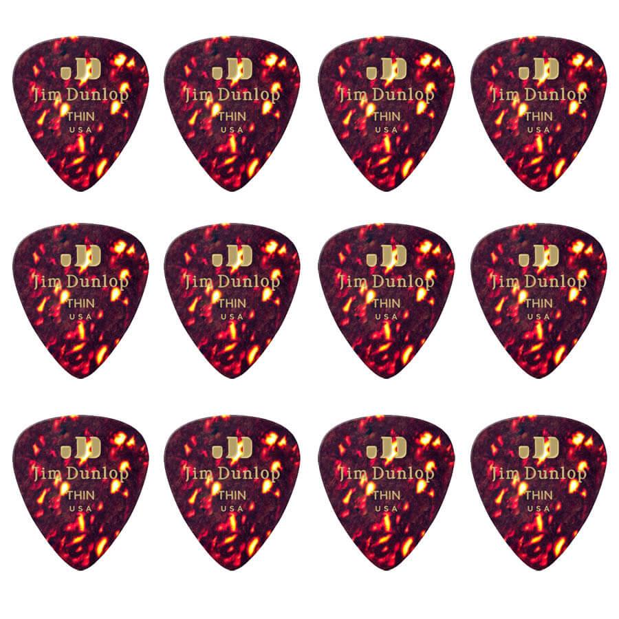 Image of   Dunlop Shell Classics Thin plektre (12 stk.)