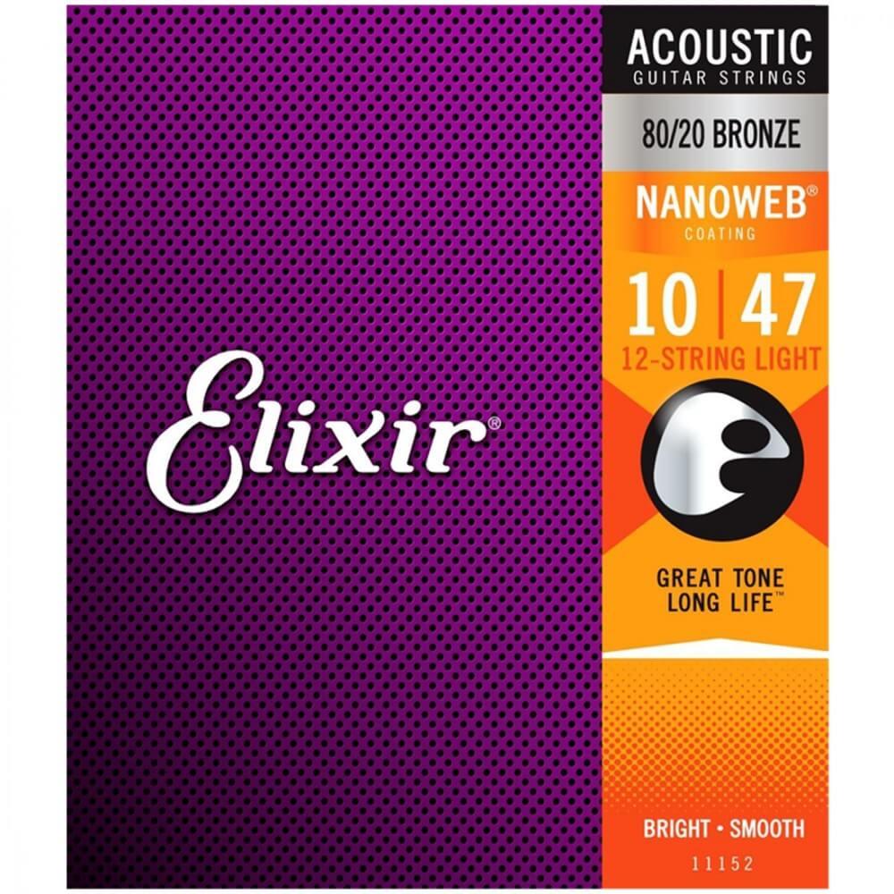 Image of   Elixir 11152 Nanoweb western-strenge til 12-strenget, 010-047