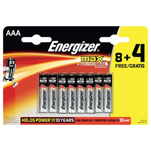 Energizer Max AAA batterier (12 stk)