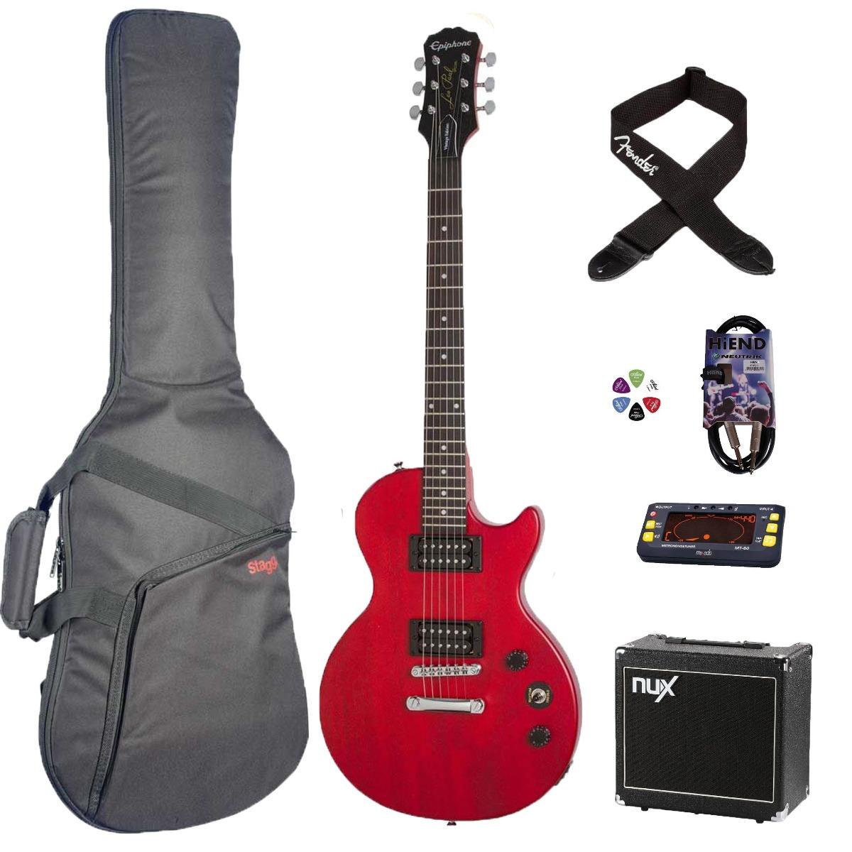 Epiphone Les Paul Special VE el-guitar pakke, rød