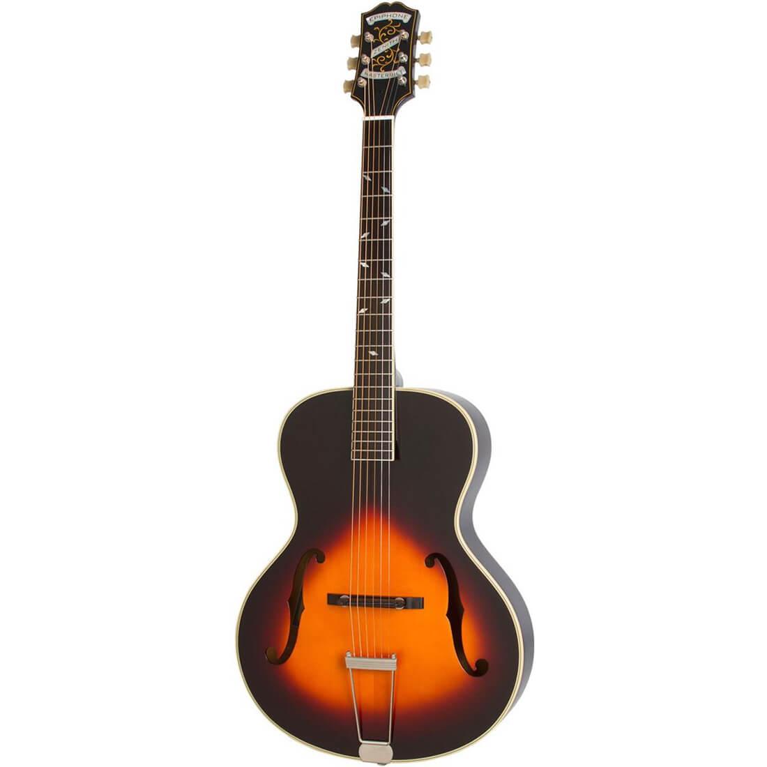 Image of   Epiphone Masterbilt Zenith Classic (F Hole) western-guitar vintage sunburst
