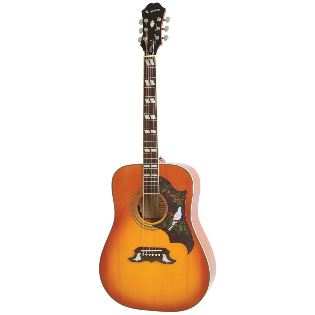 Image of   Epiphone Dove Pro western-guitar Vintage Burst