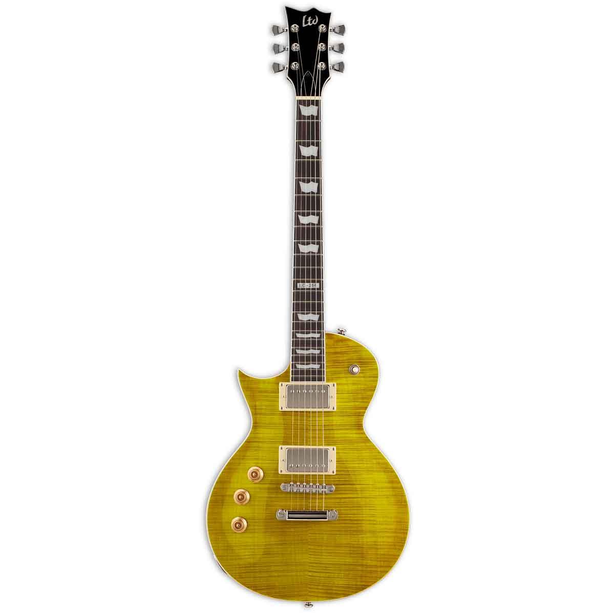 EspLtd EC-256FMLD LH venstrehånds-el-guitar lemondrop