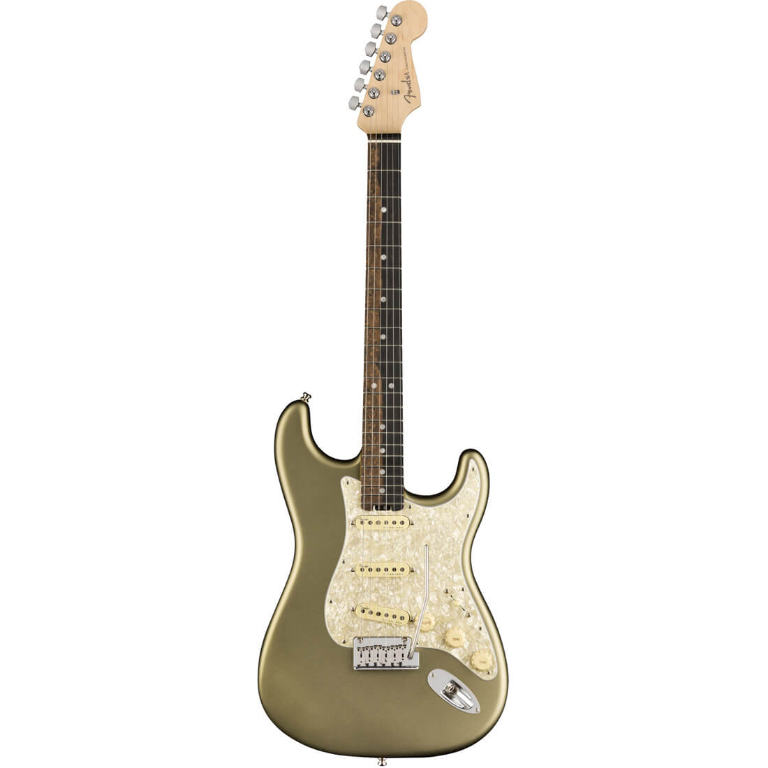 Image of   Fender American Elite Stratocaster, EB, Satin JPM el-guitar satin jade pearl metallic