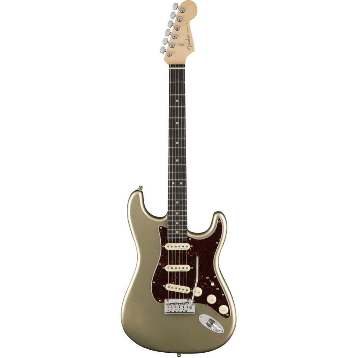 Fender American Elite Stratocaster, EB, CHMP el-guitar champagne