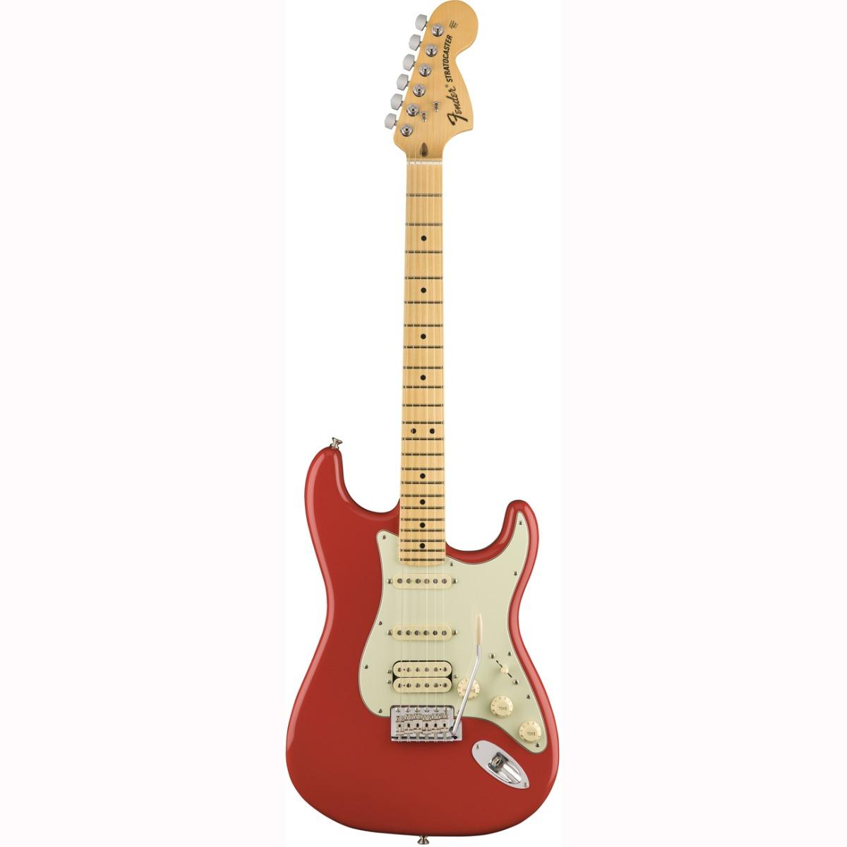 Fender American Special Stratocaster HSS, MN, FRD el-guitar falmet rød
