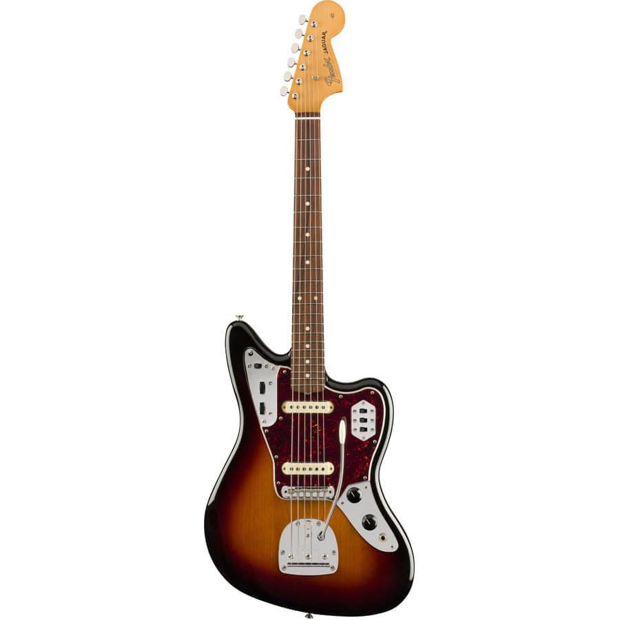 Image of   Fender Vintera 60s Jaguar, PF, 3TS el-guitar 3-tone sunburst