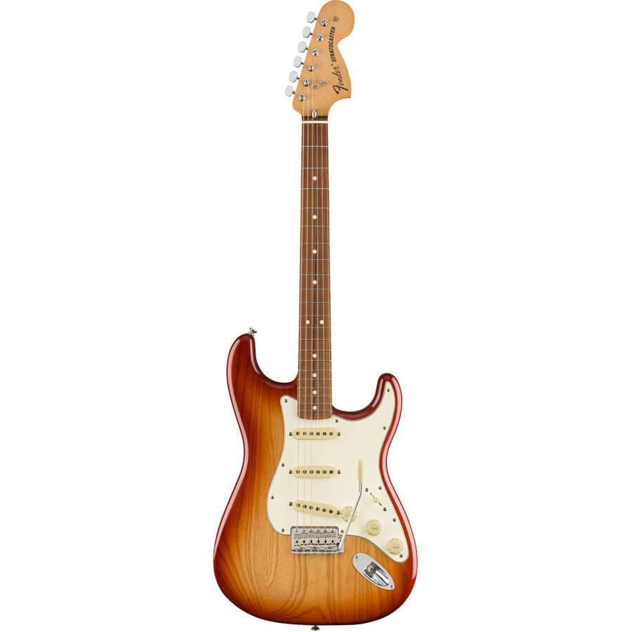Image of   Fender Vintera 70s Stratocaster, PF, SSB el-guitar sienna sunburst