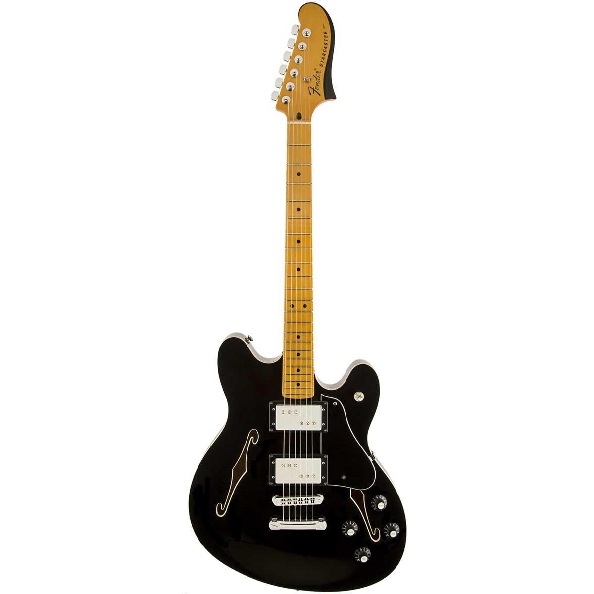 Fender Starcaster,MN,BLK el-guitar sort