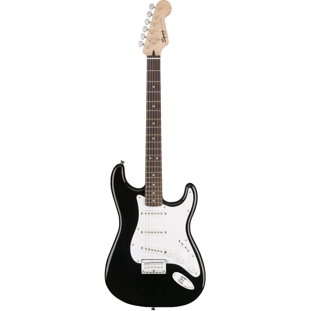 Image of   Fender Squier Bullet Strat HT, LRL, BLK el-guitar sort