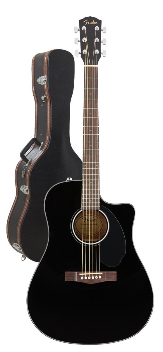 Image of   Fender CD-60SCE BK western-guitar sort m/ guitarkasse
