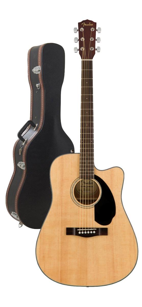 Image of   Fender CD-60SCE NAT western-guitar natur m/ guitarkasse