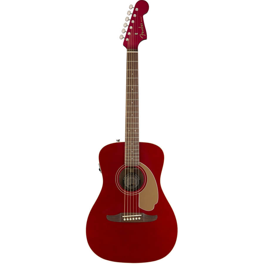 Image of   Fender Malibu Player, WN, CAR western-guitar candy apple red