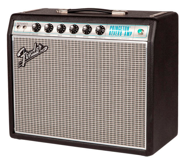 Fender 68CustomPrincetonReverb guitarforstærker black silver
