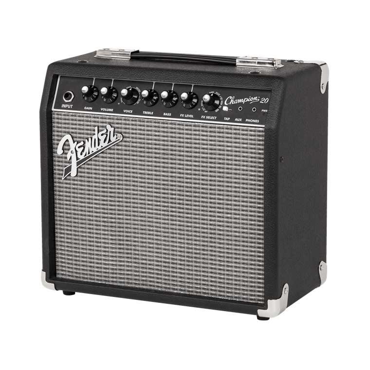Image of   Fender Champion20 guitarforstærker black silver