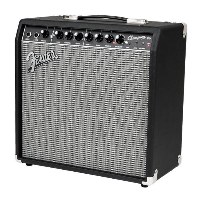 Fender Champion40 guitarforstærker black silver