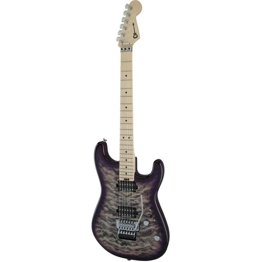 Image of   Charvel Pro-Mod San Dimas Style 1 HH FR M QM el-guitar purple phaze