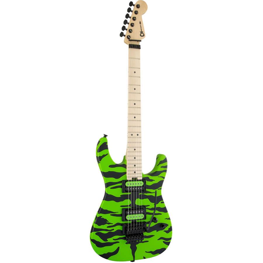 Image of   Charvel Satchel Signature Pro-Mod DK el-guitar slime green bengal