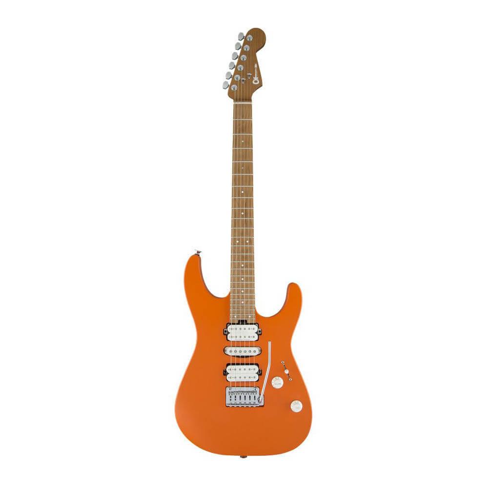 Image of   Charvel Pro-Mod DK24 HSH 2PT CM el-guitar satin orange crush