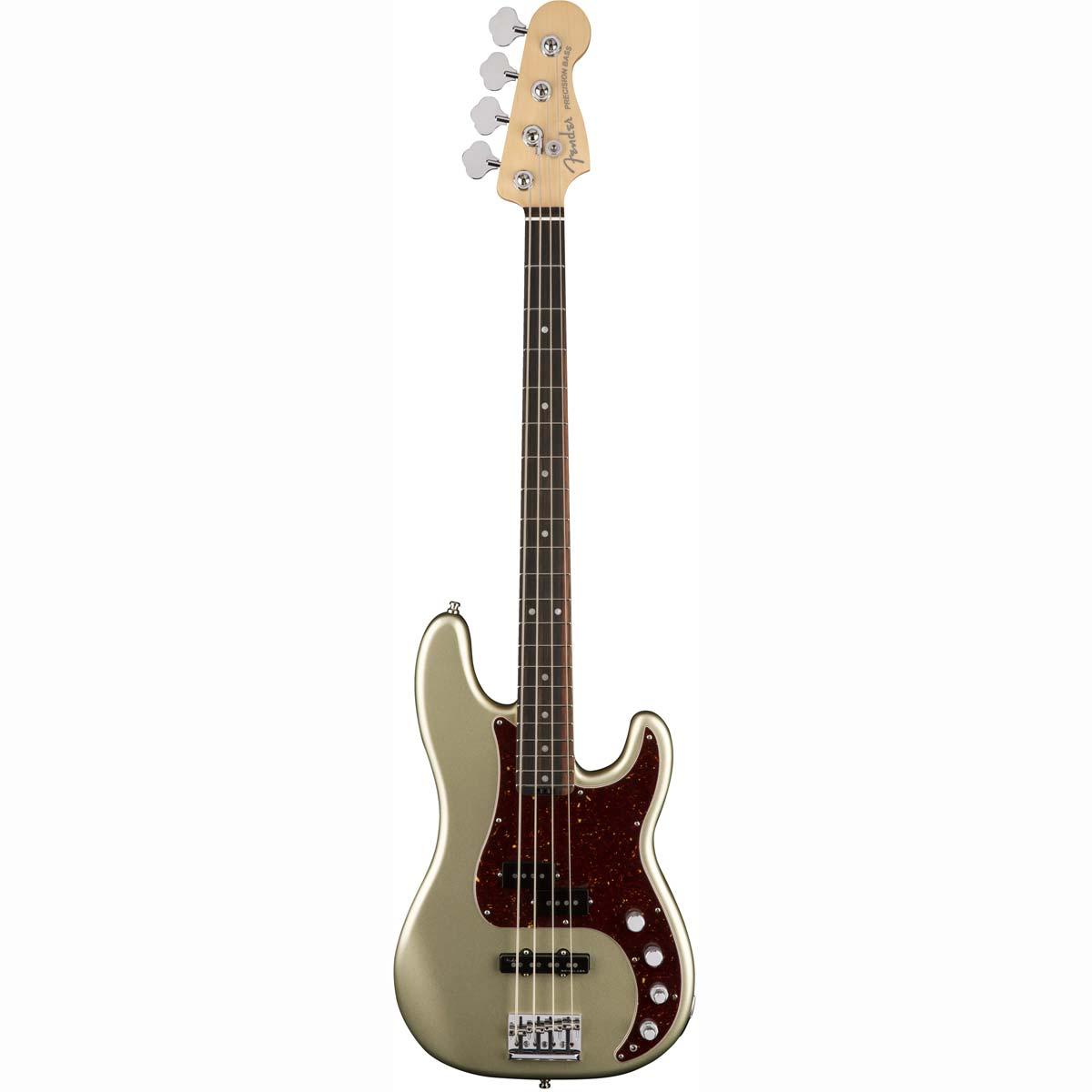 Fender American Elite Precision Bass, EB, CH el-bas champagne