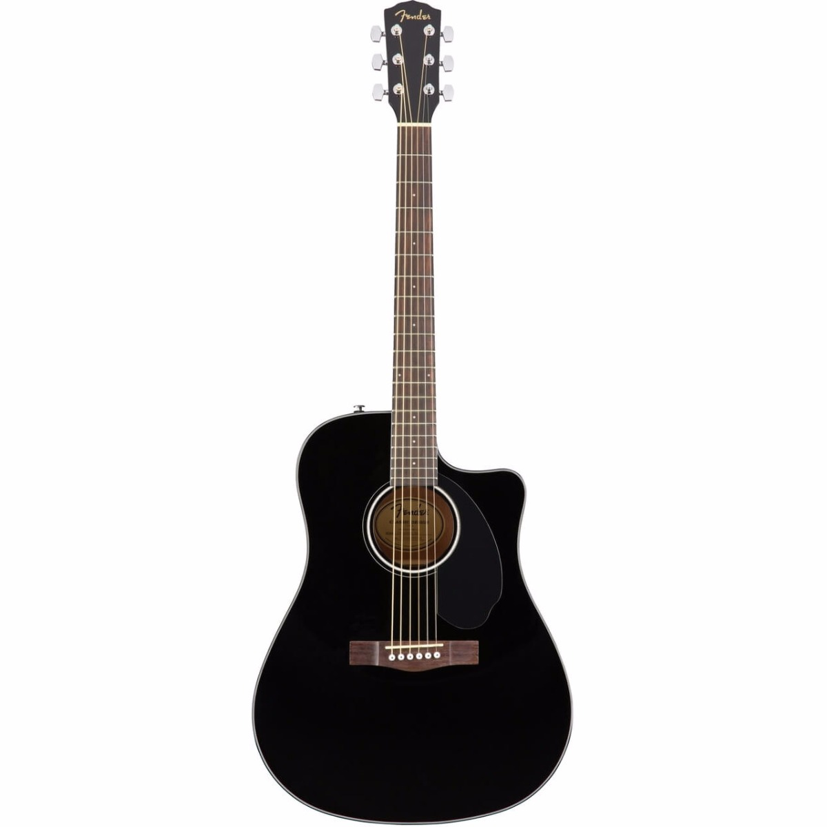 Fender CD-60SCE BLK western-guitar sort