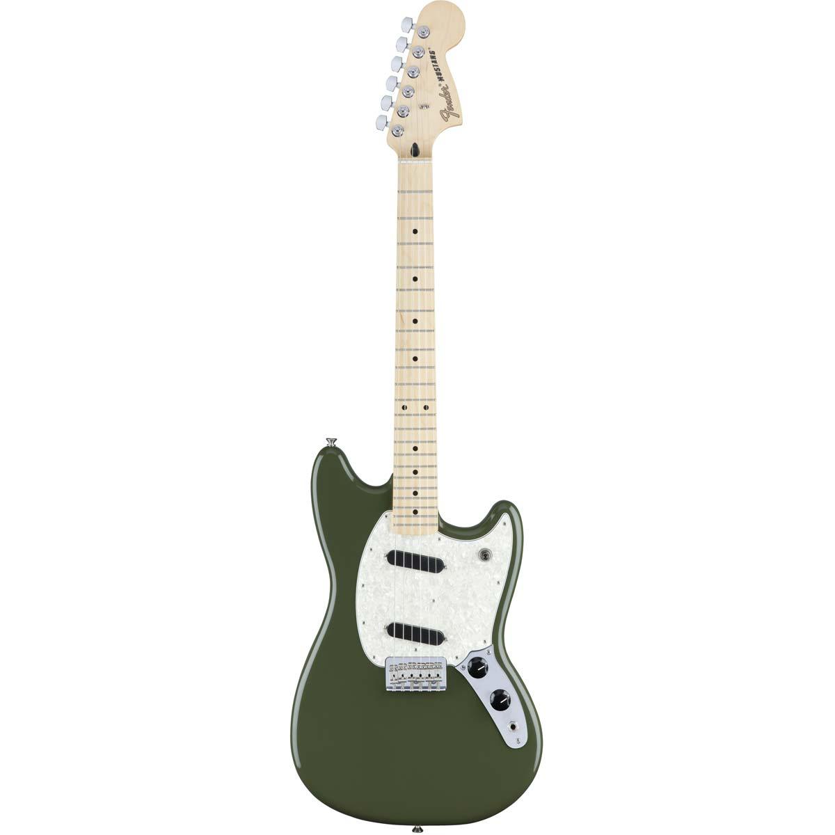 Fender Mustang,MN,OL el-guitar grøn