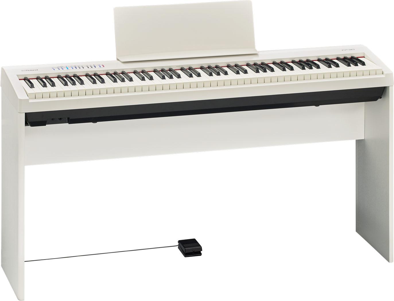 Roland elklaver FP30-WH med KSC70-WH ben