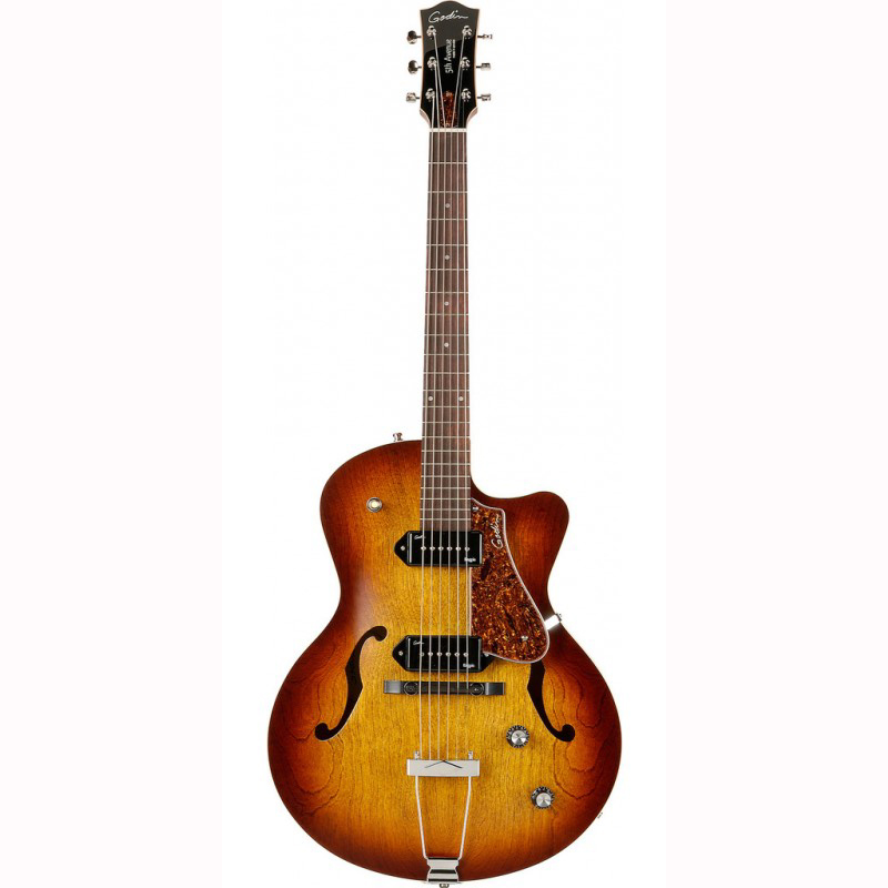 Godin 5th Avenue CW Kingpin II el-guitar cognac burst