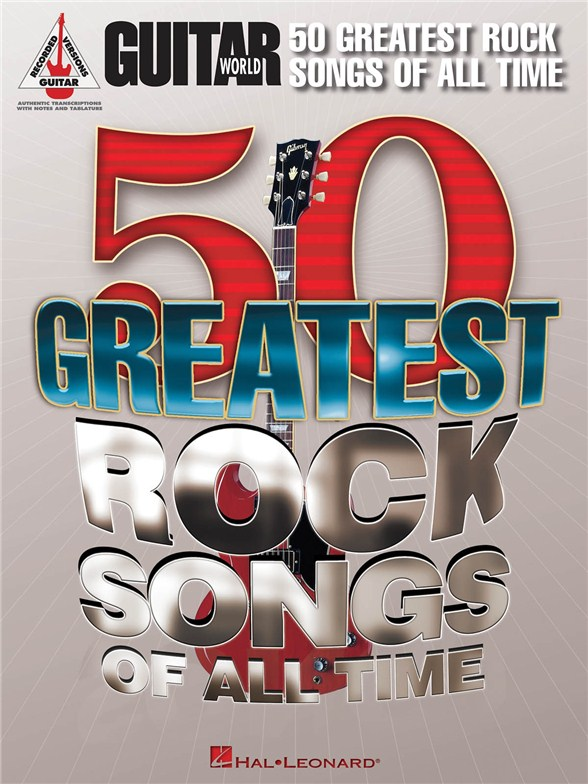 Billede af 50 Greatest Rock Songs Of All Time lærebog