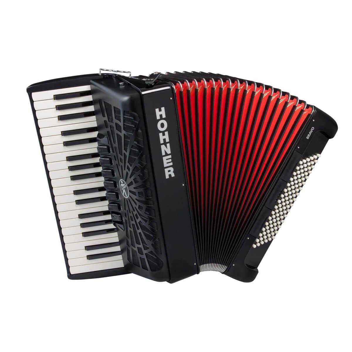 Hohner Bravo III 96 piano-harmonika sort