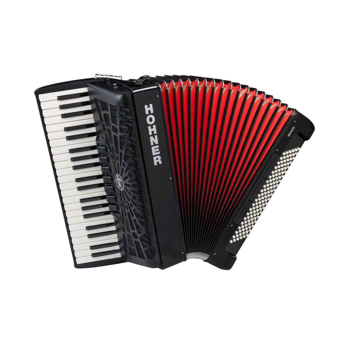 Hohner Bravo III 120 piano-harmonika sort