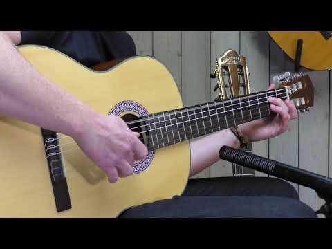 Santana B8 BK LEFT v2 spansk-guitar, venstrehåndet sort