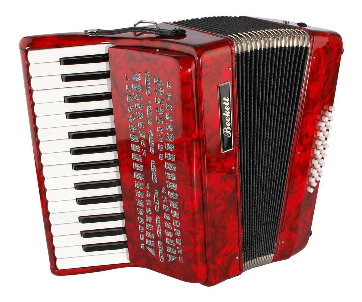 Beckett JH2002 piano-harmonika rød