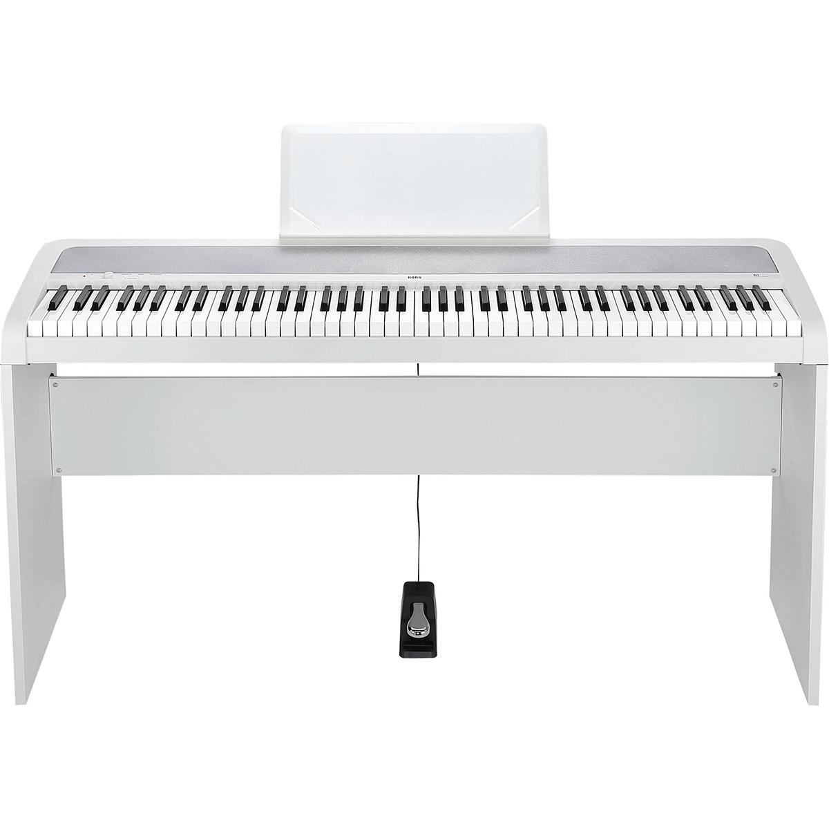 Image of   Korg B1 WH el-klaver med STB1 WH ben, hvid