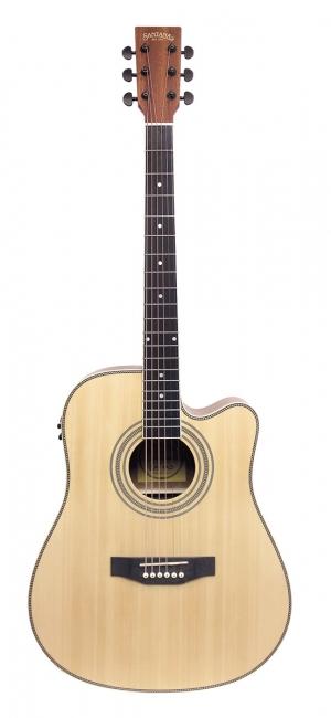 Image of   Santana LA-100EQCW-NA v2 western-guitar nature