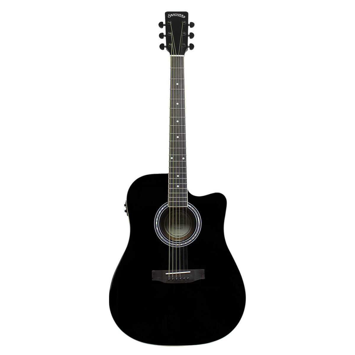 Image of   Santana LA-100EQCW-BK v2 western-guitar sort