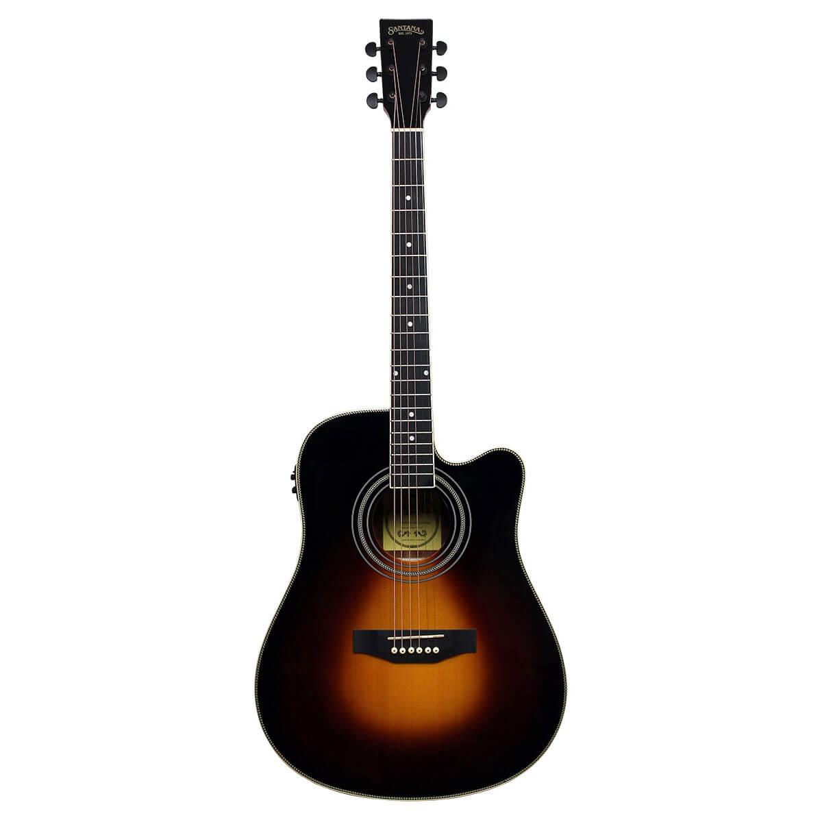 Image of   Santana LA-100EQCW-SB v2 western-guitar sunburst