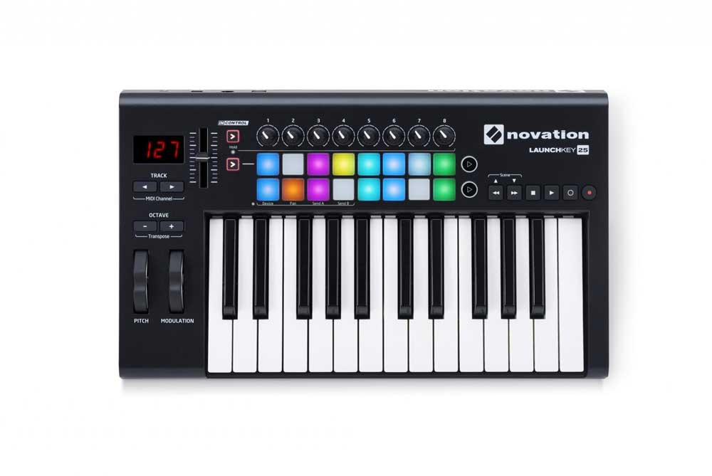 Image of   Novation Launchkey25-MK2 USB-midi-keyboard