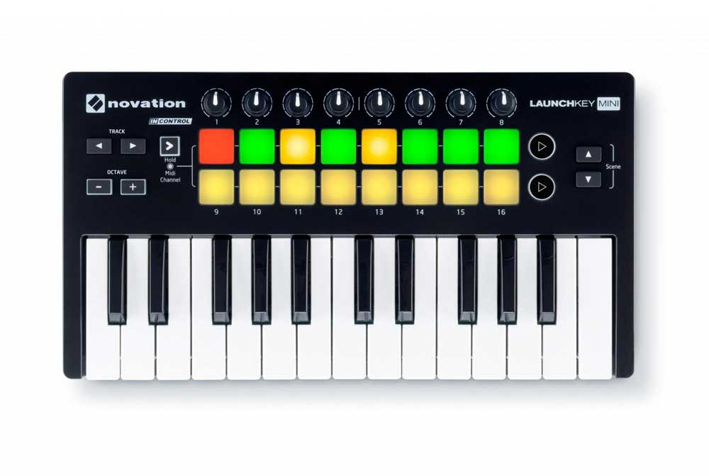 Image of   Novation LaunchkeyMini-MK2 USB-midi-keyboard