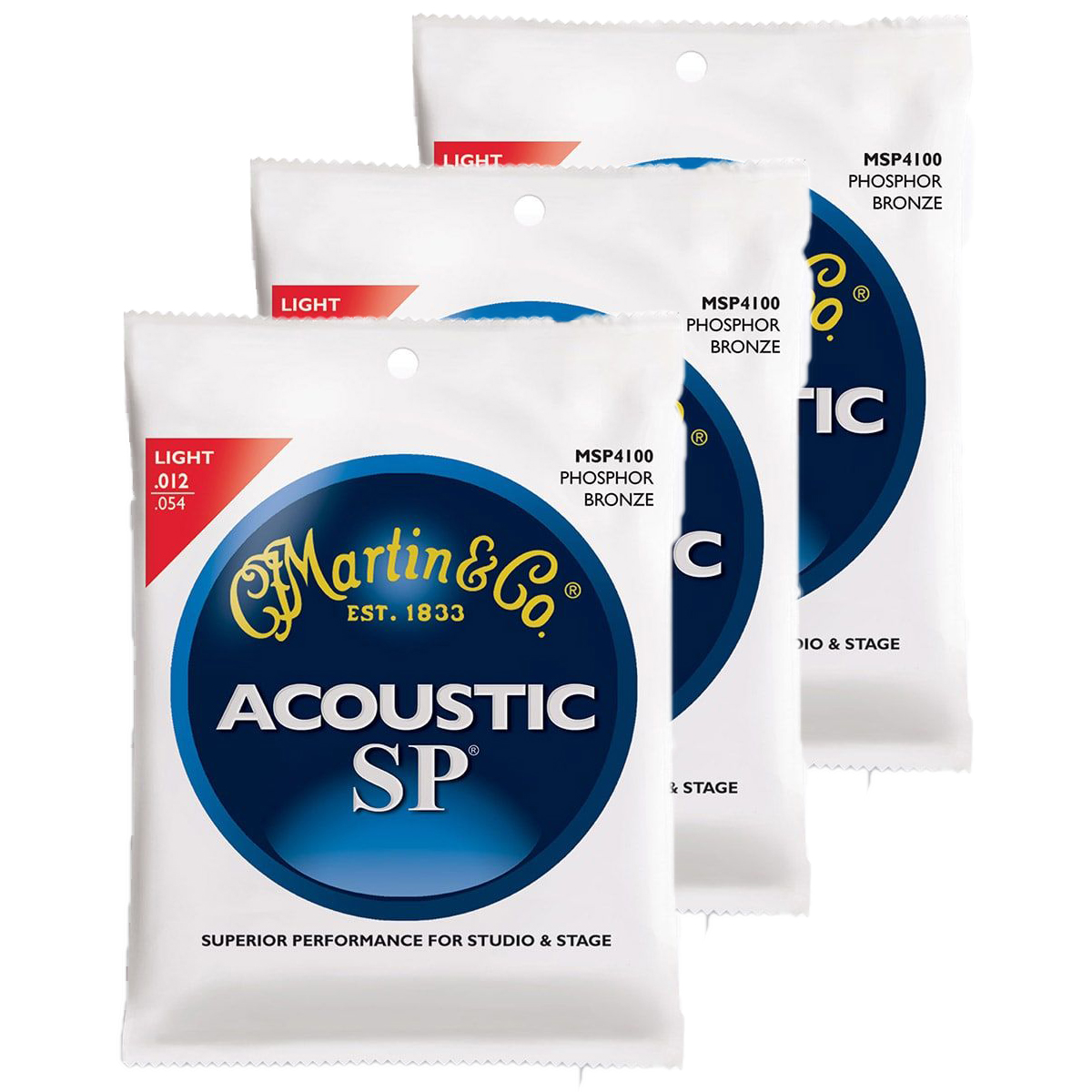 Image of   Martin MSP4100 western-guitar-strenge, light, 3-pack