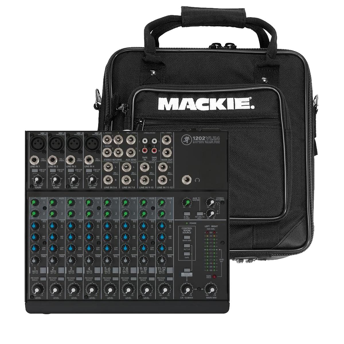 Mackie 1202 VLZ4 mixer + Taske