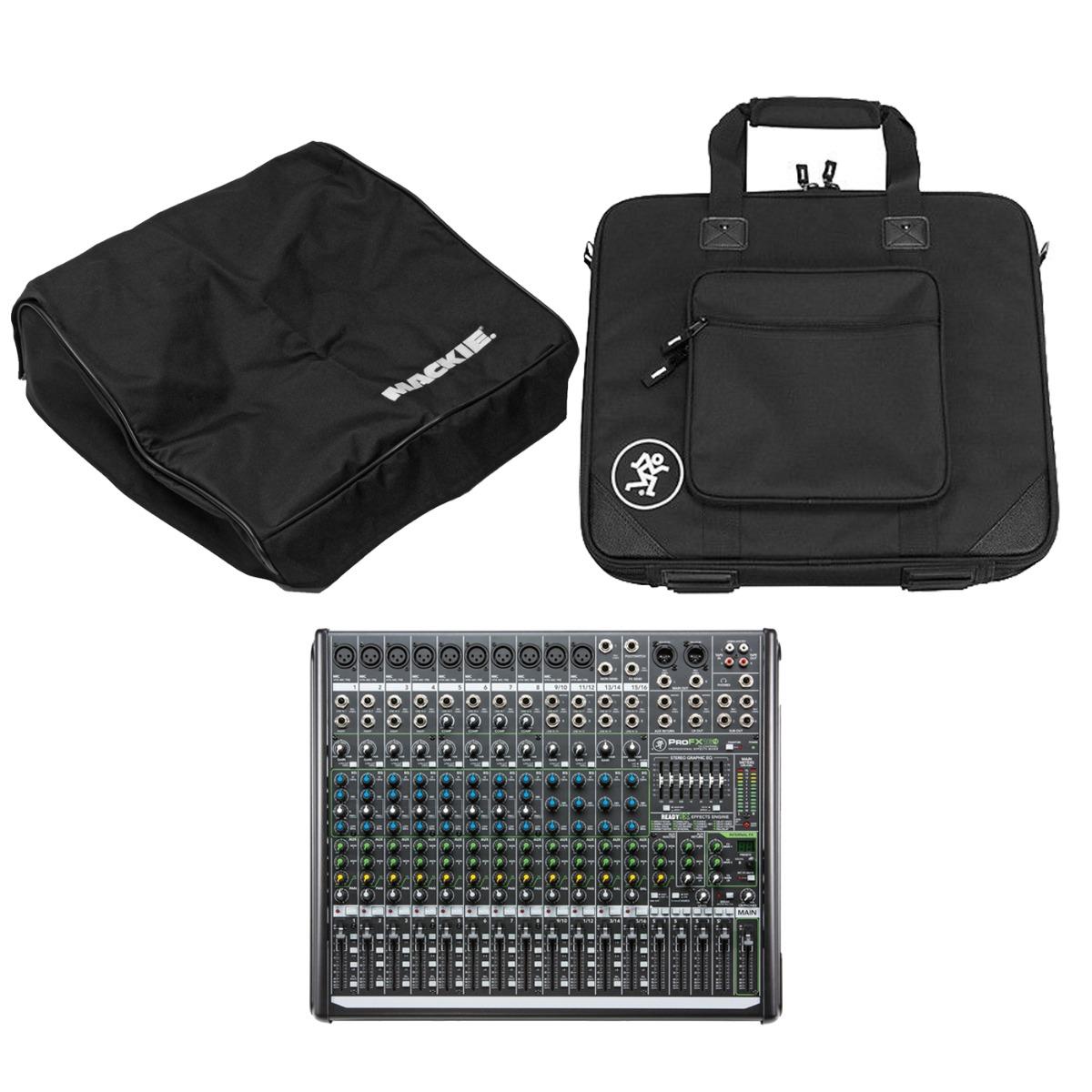 Mackie ProFX16v2 mixer + taske + cover