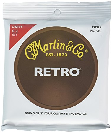 Image of   Martin MM12 Retro Monel western-guitar-strenge,light