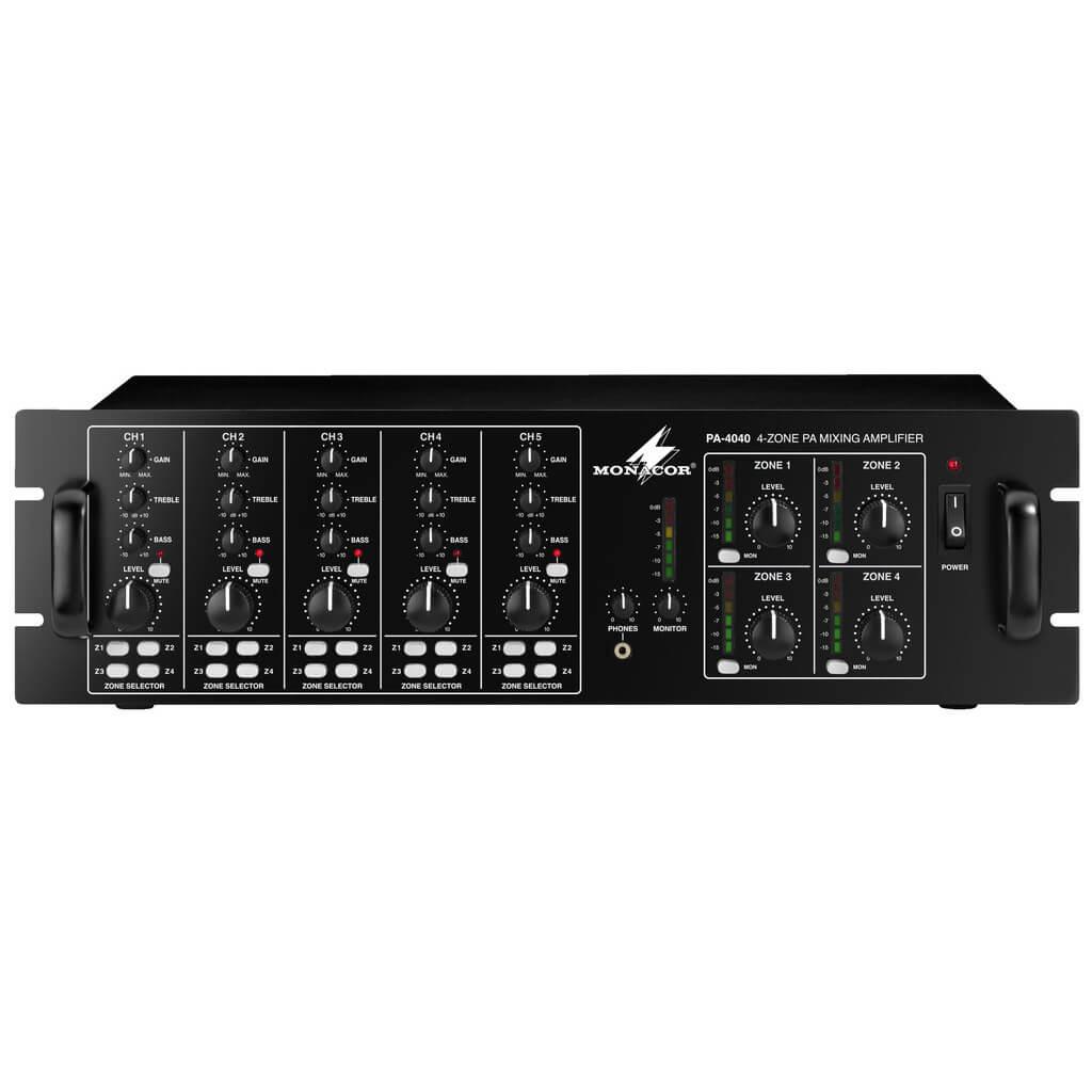 Monacor PA-4040 matrixforstærker, 100V