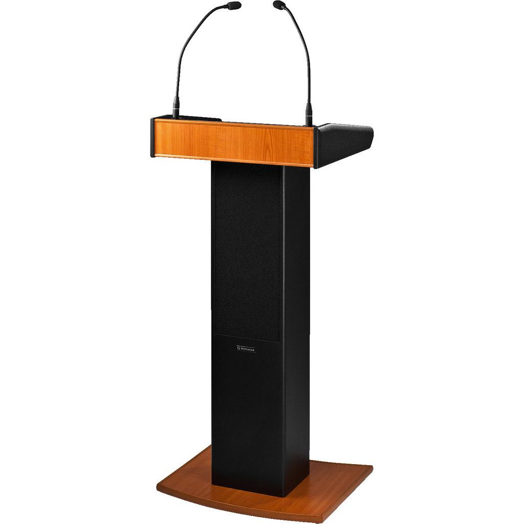 Monacor SPEECH-100D talerstol m/aktiv højttaler, mikrofon og lampe
