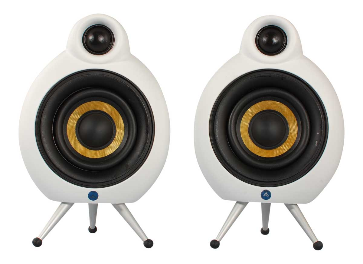 Scandyna Podspeaker MicroPod Bluetooth højttalere(par) white matt