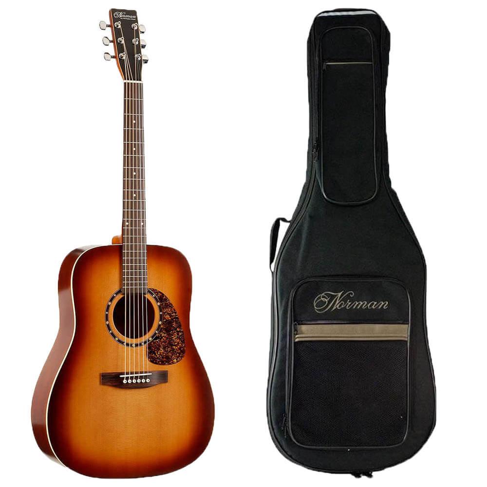 Norman B18 Cedar Protégé western-guitar med taske
