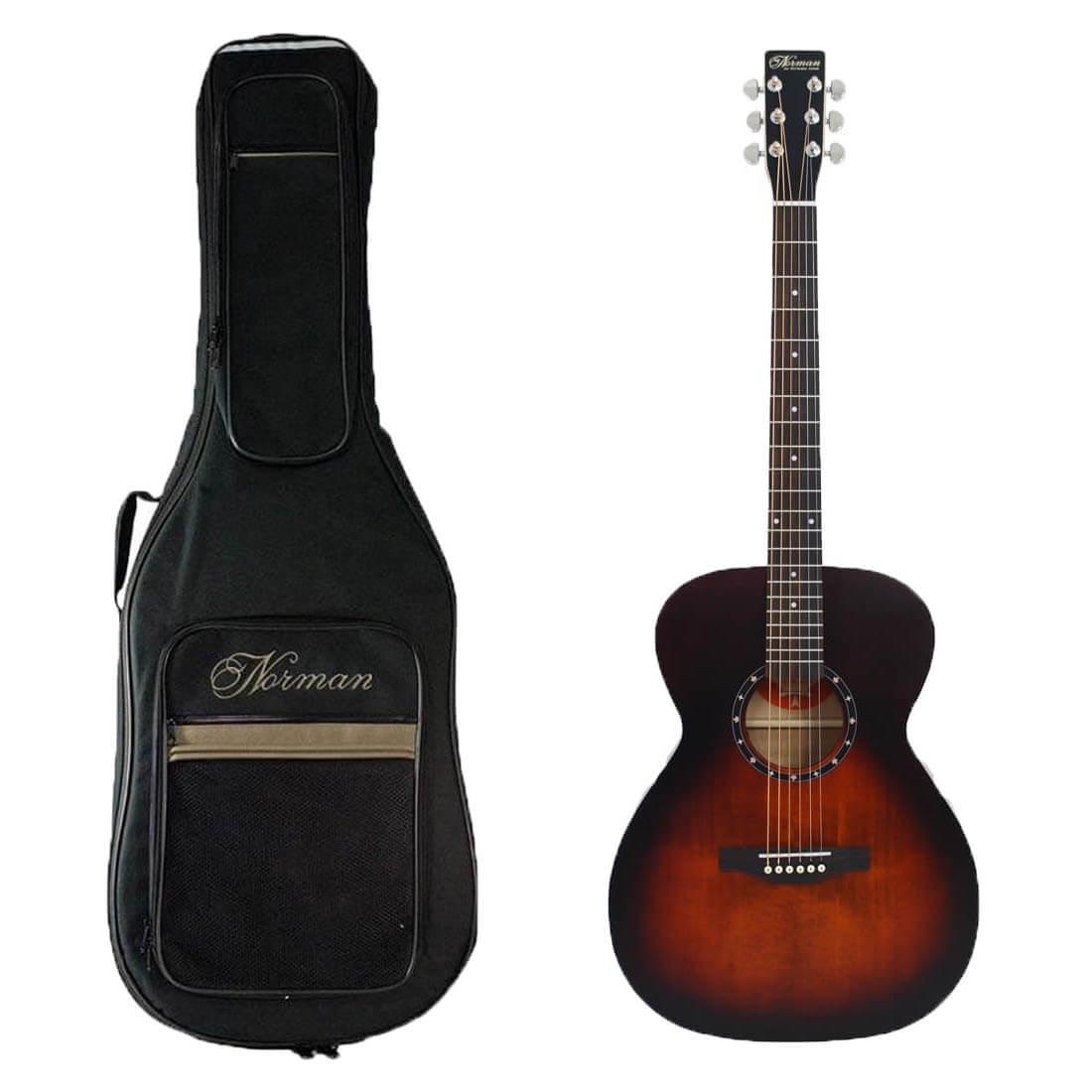 Norman Protégé B18 Cedar Concert Hall western-guitar med taske