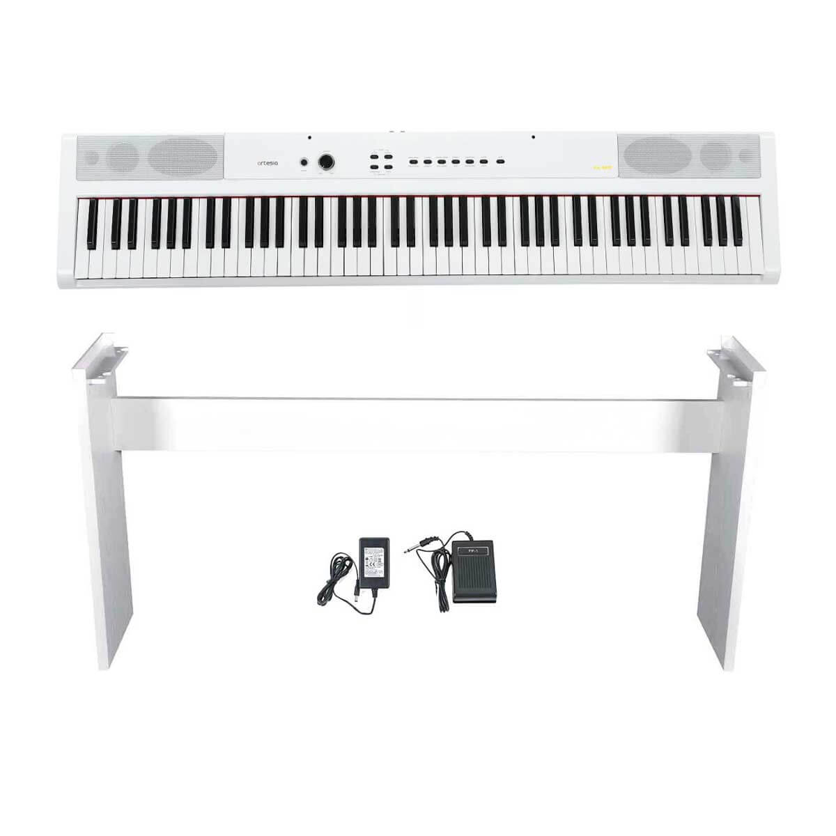 Artesia PA-88W WH + ST1 el-klaver med ben