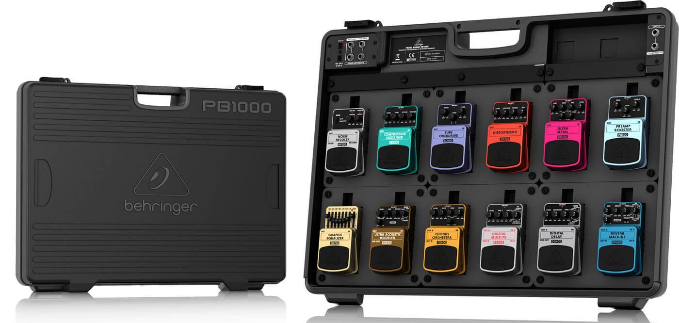 Billede af Behringer PB1000 pedalboard med strømforsyning